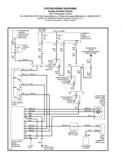 Схема подключения адаптивный круиз-контроль